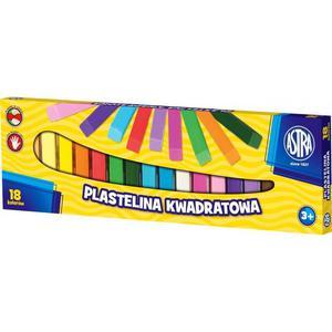 Plastelina ASTRA kwadratowa 18 kolorów - 2825402814
