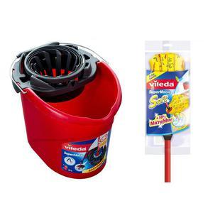 Zestaw VILEDA Mop Soft żółty + Drążek + Wiadro - 2881305594