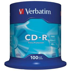 Płyta CD-R VERBATIM 700MB cake op. 100szt. - 2881305924