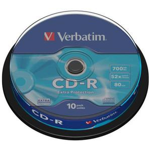Płyta CD-R VERBATIM 700MB cake op. 10szt. - 2881305926