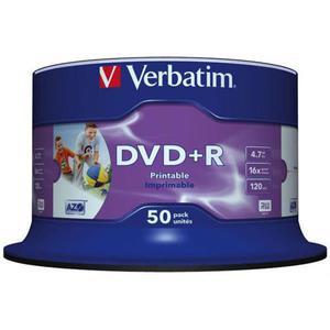 Płyta DVD+R VERBATIM AZO cake op. 50szt. do nadruku - 2881305929