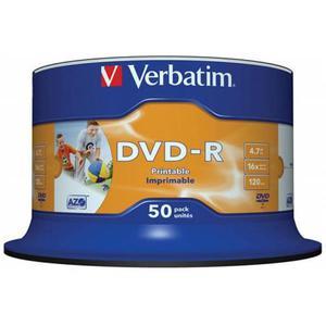 Płyta DVD-R VERBATIM AZO cake op. 50szt. do nadruku - 2881305932