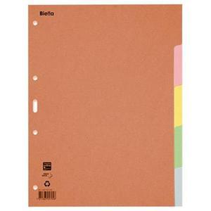 Przekładki kartonowe, A4, 1-5 kart., mix kolorów - 2881306112