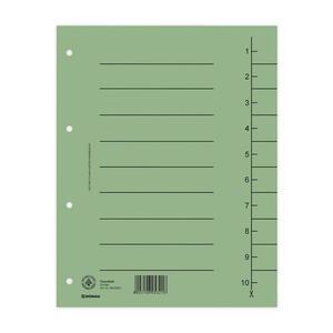 Przekładki DONAU oddz. A4 op.100 - zielone - 2881306118