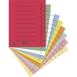 Przekładki DONAU oddz. A4 op.100 - mix kolorów