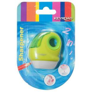 Temperówka KEYROAD plastikowa pojedyncza z gumką blister mix kolorów - 2881306841