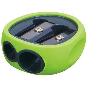 Temperówka KEYROAD Rubber plastikowa podwójna pakowane na displayu mix kolorów - 2881306844