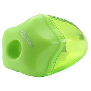 Temperówka KEYROAD Star plastikowa pojedyńcza z pojemnikiem pakowane na displayu mix kolorów - 2881306852