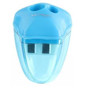 Temperówka KEYROAD Star plastikowa podwójna z pojemnikiem pakowane na displayu mix kolorów - 2881306853