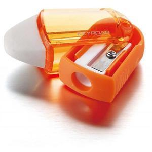 Temperówka KEYROAD Twist plastikowa pojedyńcza z gumką pakowane na displayu mix kolorów - 2881306856