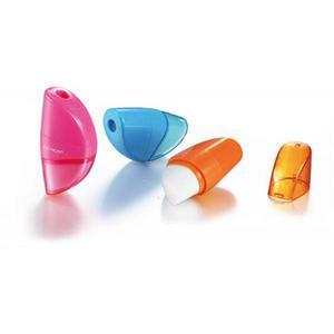 Temperówka KEYROAD Orange plastikowa pojedyńcza z gumką pakowane na displayu mix kolorów - 2881306862