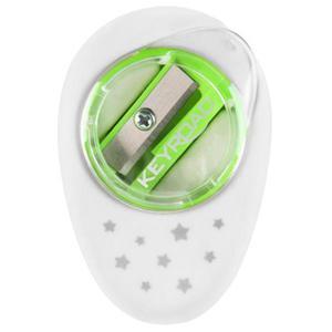 Temperówka KEYROAD Cappy plastikowa pojedyńcza z gumką pakowane na displayu mix kolorów - 2881306873