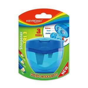 Temperówka KEYROAD plastikowa potrójna blister mix kolorów - 2881306874