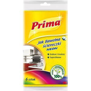 Ściereczki PRIMA Neon 6szt. mix kolorów - 2881307103