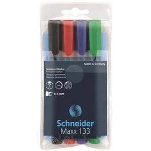 Zestaw markerów uniwersalnych SCHNEIDER Maxx 133 1-4mm 4 szt. miks kolorów - 2881307160