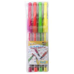 Długopis żelowy GIMBOO Fluo 0,8mm 4 szt. zawieszka mix kolorów - 2881307206