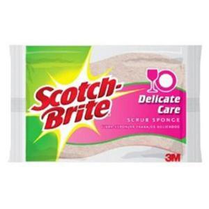 Gąbka do zmywania SCOTCH BRITE celulozowa do szkła i porcelany różowa - 2881307209