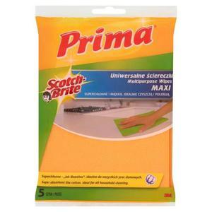 """Ściereczki uniwersalne PRIMA Maxi """"Jak bawełna"""" 5szt. żółte - 2881307225"""