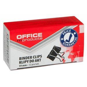 Klipy do dokumentów OFFICE PRODUCTS 19mm 12szt. czarne - 2881307337