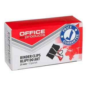 Klipy do dokumentów OFFICE PRODUCTS 25mm 12szt. czarne - 2881307339