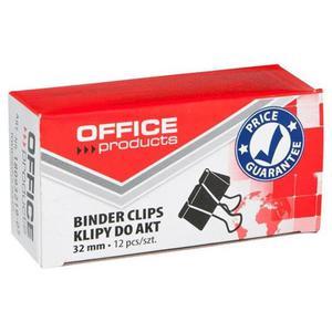 Klipy do dokumentów OFFICE PRODUCTS 32mm 12szt. czarne - 2881307340