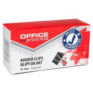 Klipy do dokumentów OFFICE PRODUCTS 41mm 12szt. czarne - 2881307342