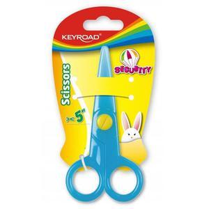 Nożyczki szkolne KEYROAD Security 12,5cm zaokrąg - 2881307365