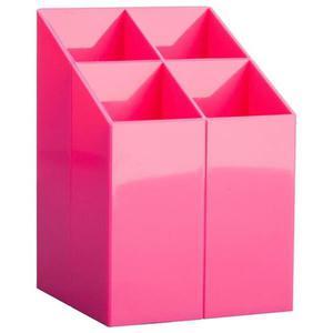 Przybornik na biurko ICO z przegrodami różowy - 2881307440