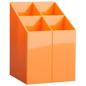Przybornik na biurko ICO z przegrodami pomarańczowy - 2881307441