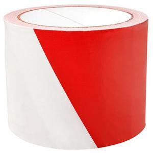 Taśma ostrzegawcza, 75mm, 100m, biało-czerwona - 2881307517