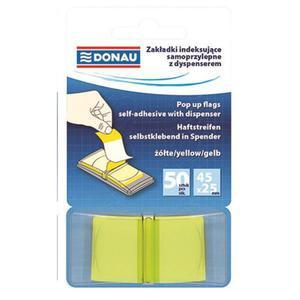 Zakładki indeksujące DONAU 25x45mm 1x50 kart. transparentne żółte - 2881307779