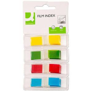 Zakładki indeksujące Q-CONNECT, PP, 12x45mm, 4x35 kart., blister, mix kolorów - 2881307787