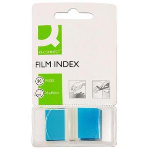Zakładki indeksujące Q-CONNECT, PP, 25,4x43,7mm, 50 kart., niebieskie - 2881307788