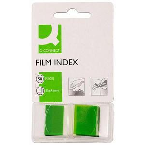 Zakładki indeksujące Q-CONNECT, PP, 25,4x43,7mm, 50 kart., zielone - 2881307791