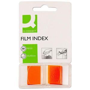 Zakładki indeksujące Q-CONNECT, PP, 25,4x43,7mm, 50 kart., pomarańczowe - 2881307792