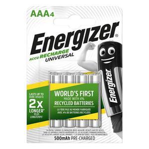 Akumulator ENERGIZER Universal, AAA, HR03, 1,2V, 500mAh, 4szt. - 2881307809
