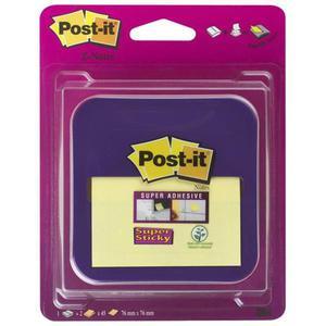 Podajnik do karteczek samoprzylepnych POST-IT Z-Notes (VD-330) fioletowy w zestawie 2 bloczki Super Sticky Z-Notes - 2881307888