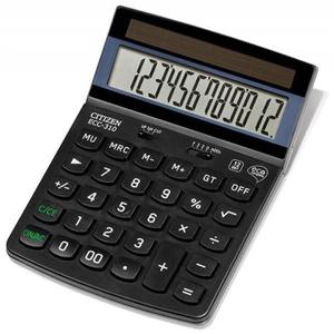 Kalkulator CITIZEN ECC-310 12-cyfrowy 173x107mm czarny - 2881308150