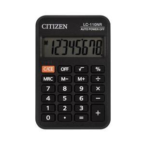 Kalkulator CITIZEN kieszonkowy LC110NR 8-cyfrowy 88x58mm czarny - 2881308151