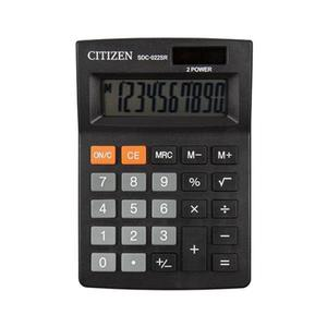 Kalkulator CITIZEN SDC-022SR 10-cyfrowy 127x88mm czarny - 2881308155