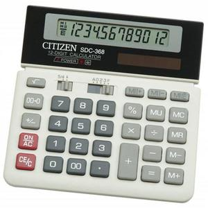 Kalkulator CITIZEN SDC-368 12-cyfrowy 152x152mm czarno-biały - 2881308156