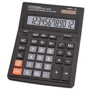 Kalkulator CITIZEN SDC-444S 12-cyfrowy 199x153mm czarny - 2881308157