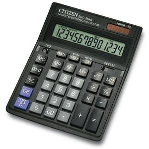 Kalkulator CITIZEN SDC-554S 14-cyfrowy199x153mm czarny - 2881308158