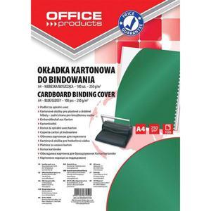 Okładki do bindowania OFFICE PRODUCTS karton A4 250gsm błyszczące 100szt. zielone - 2881308234