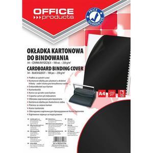 Okładki do bindowania OFFICE PRODUCTS karton A4 250gsm błyszczące 100szt. czarne - 2881308235