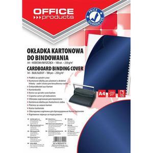 Okładki do bindowania OFFICE PRODUCTS karton A4 250gsm błyszczące 100szt. ciemnoniebieski - 2881308236