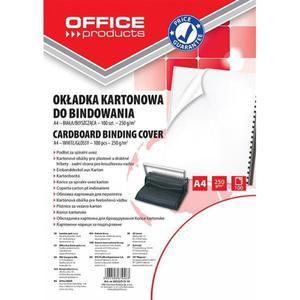Okładki do bindowania OFFICE PRODUCTS karton A4 250gsm błyszczące 100szt. białe - 2881308237