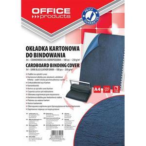 Okładki do bindowania OFFICE PRODUCTS karton A4 250gsm skóropodobne 100szt. ciemnoniebieskie - 2881308240