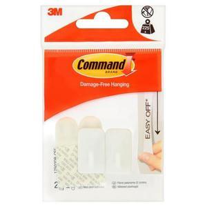 Hak wielokrotnego użytku COMMAND Basic (17502DB-CEE), z metalowym uchwytem, mały, biały - 2881308540