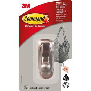 Hak COMMAND (17061BN), metalowy, średni, srebrny - 2881308547